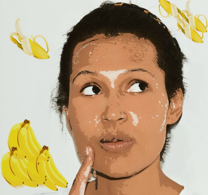 brightening banana facial mas