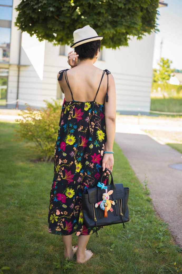 flower printed summer dress
