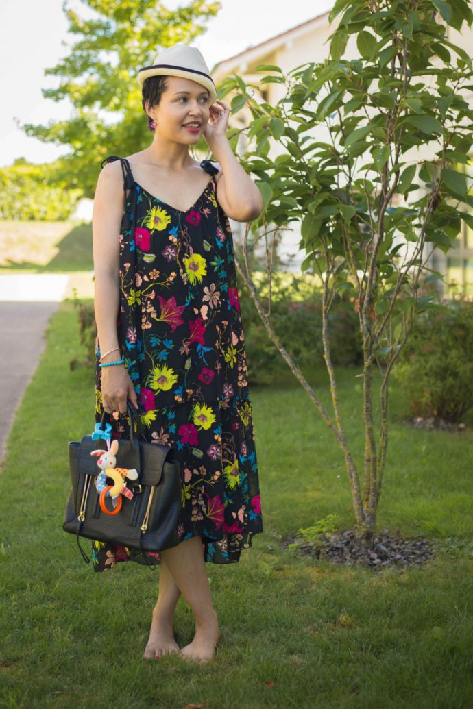 printed summer dress / currently wearing
