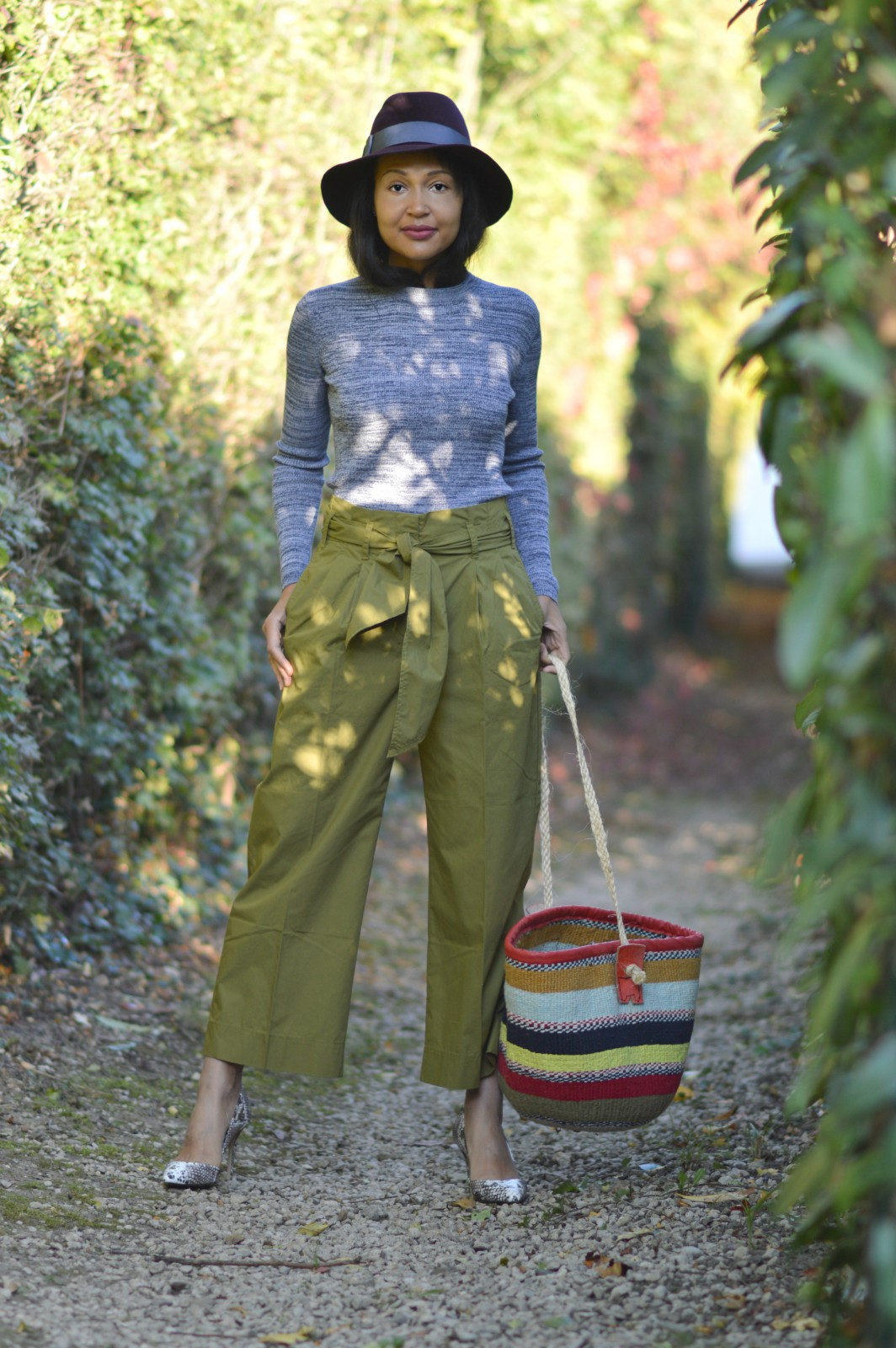 importance of self-care/Oversized Moss green pants