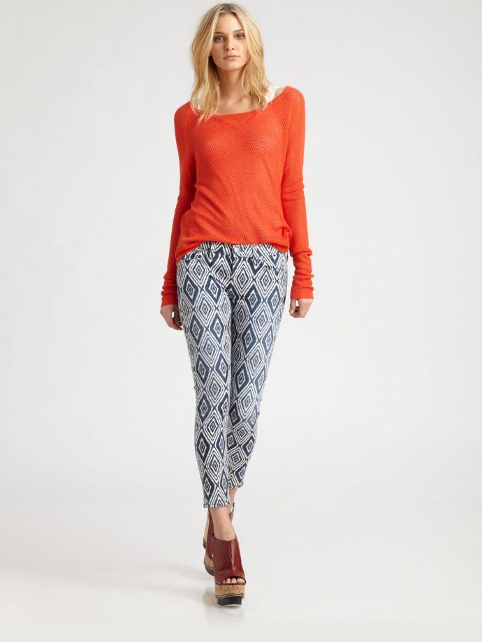 printed skinny jeans_lyst