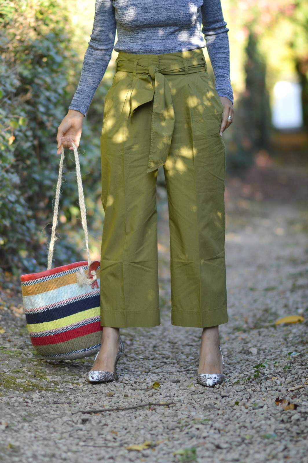 wide leg green pants/swiss fashion blog