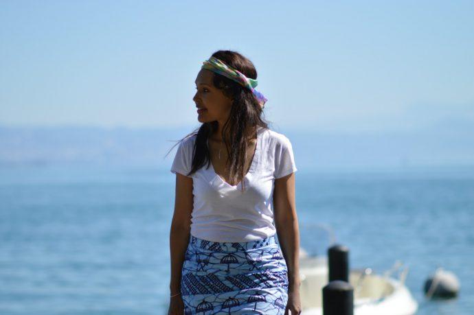perfection/ tie-dye headscarf