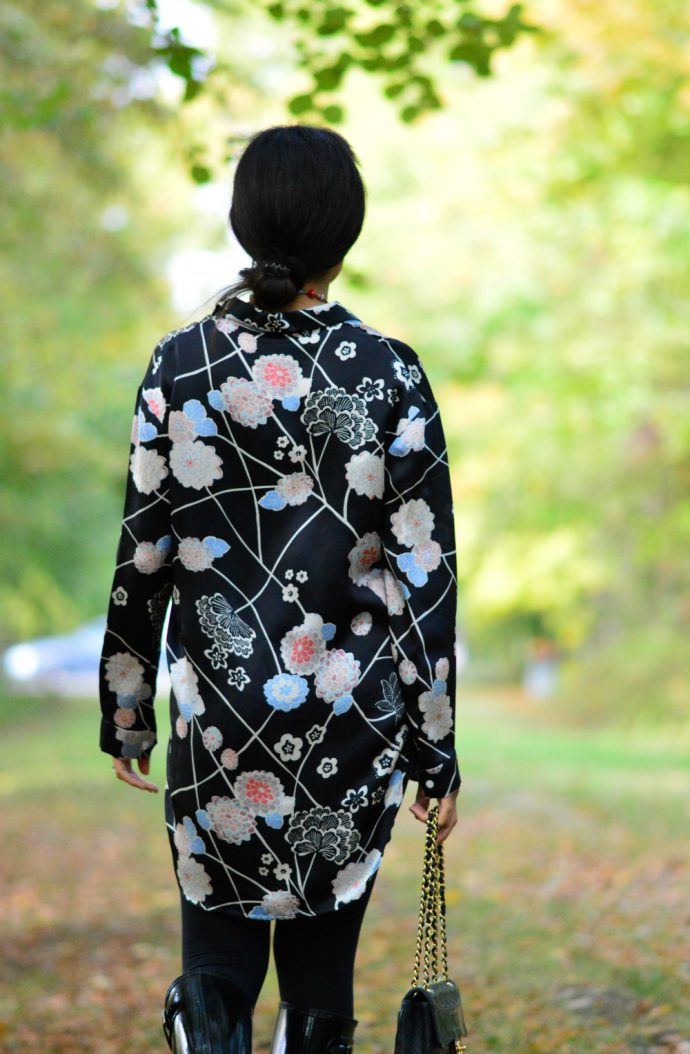 floral-print silk blouse/ harald chyoung