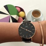 Classic Black Timepiece