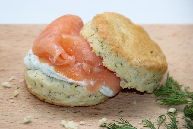 smoked salmon and dill scones