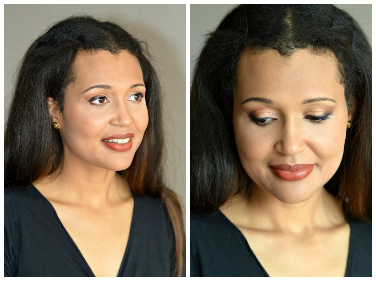 festive eye makeup detail/ lipstick detail