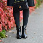 White Top & Black Skirt
