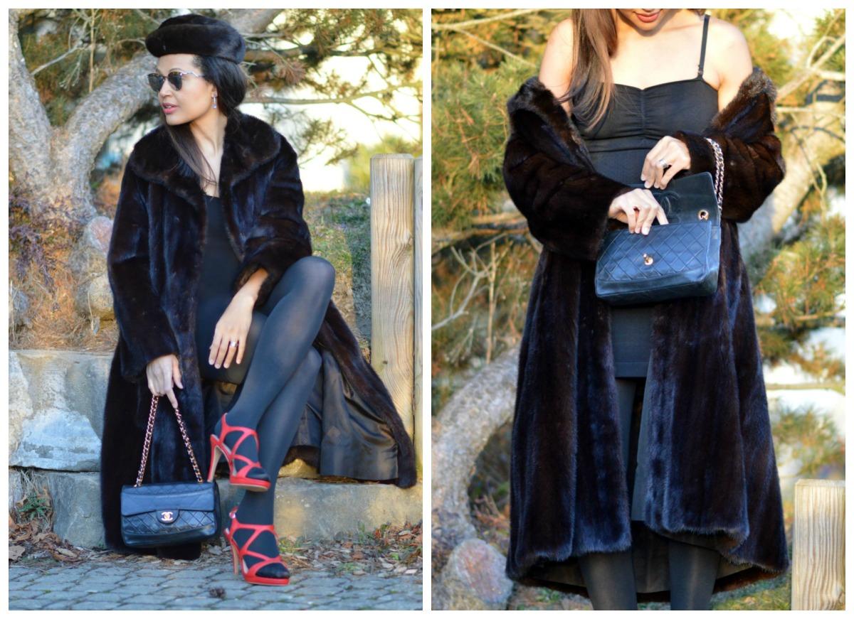 vintage fur coat/ currently wearing