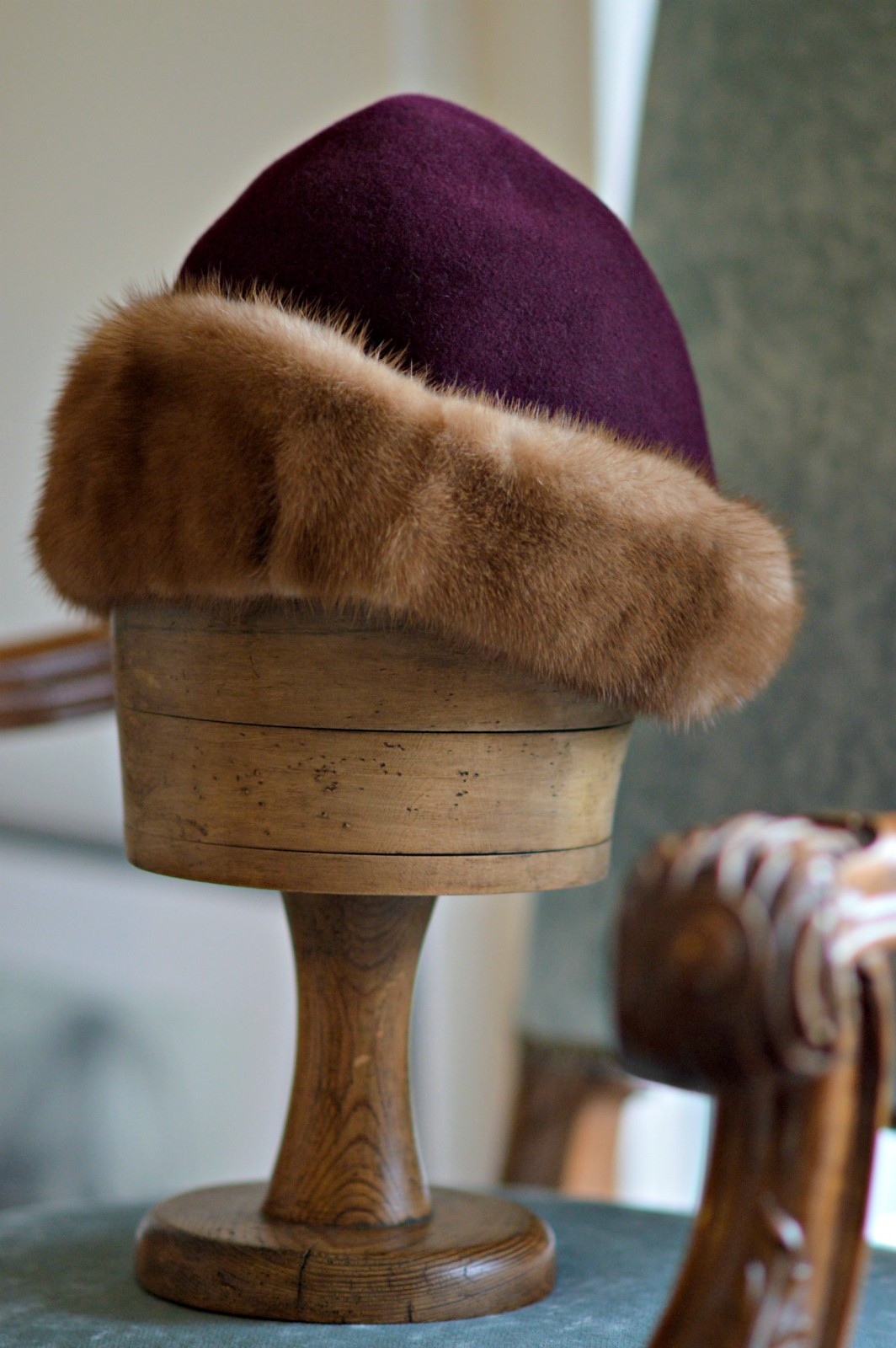 fur lined felt hat