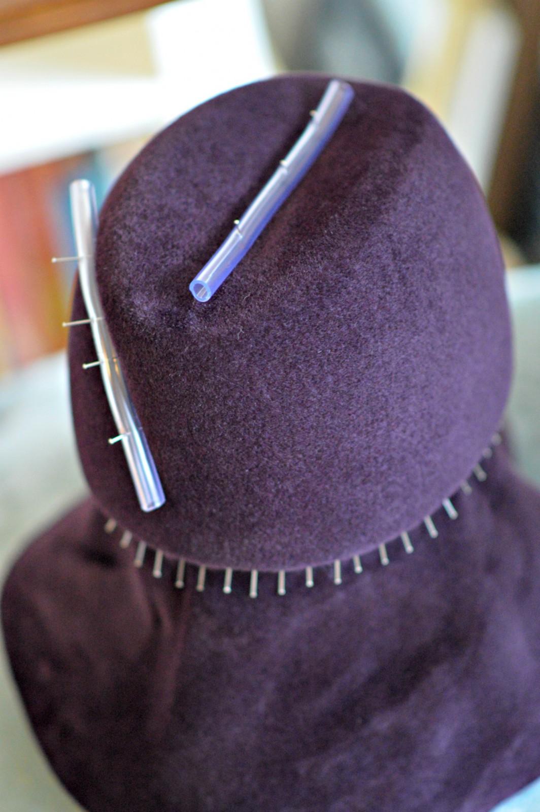 couture felt hat