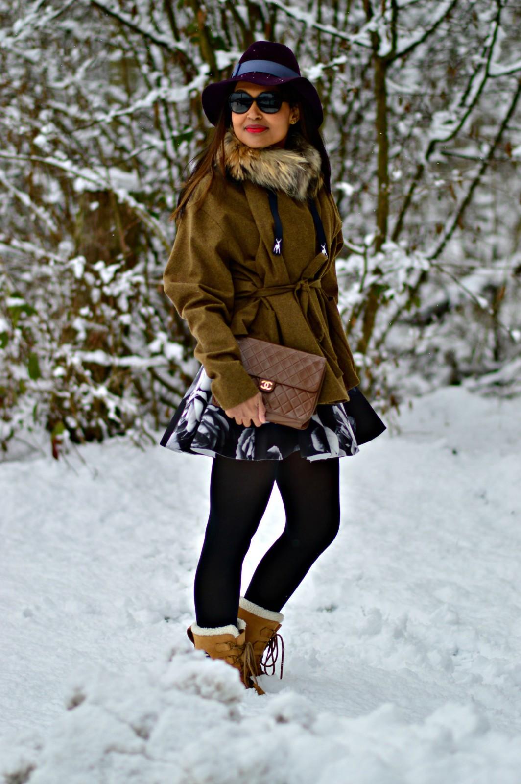Couture hat/ vanja jocic/ currently wearing / sorel boots / snowboots