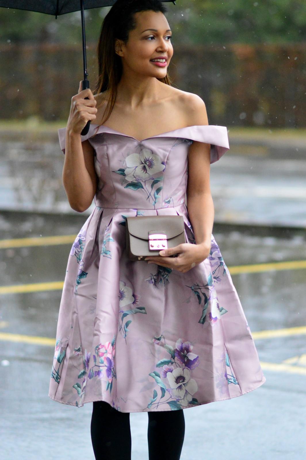 romantic pink dress/ pink floral dress / Valentine's Day