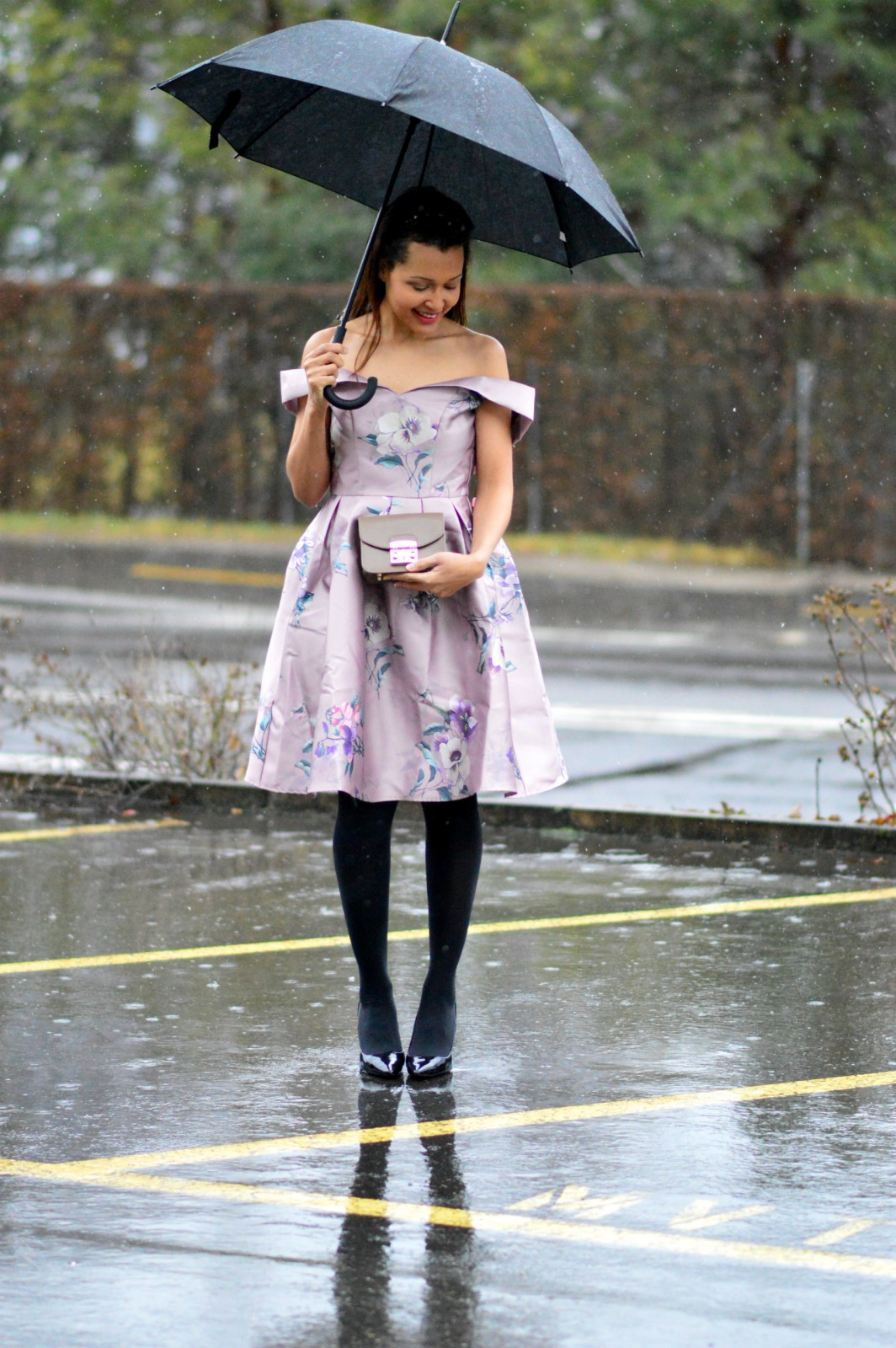 romantic dress/ pink floral dress / Valentine's Day