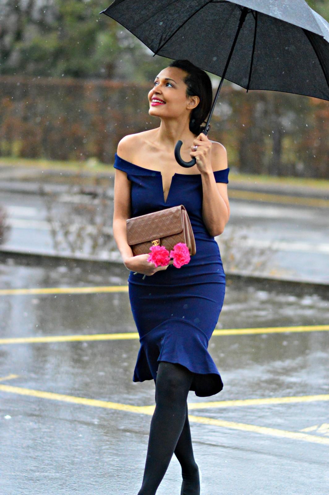 Blue capsule dress
