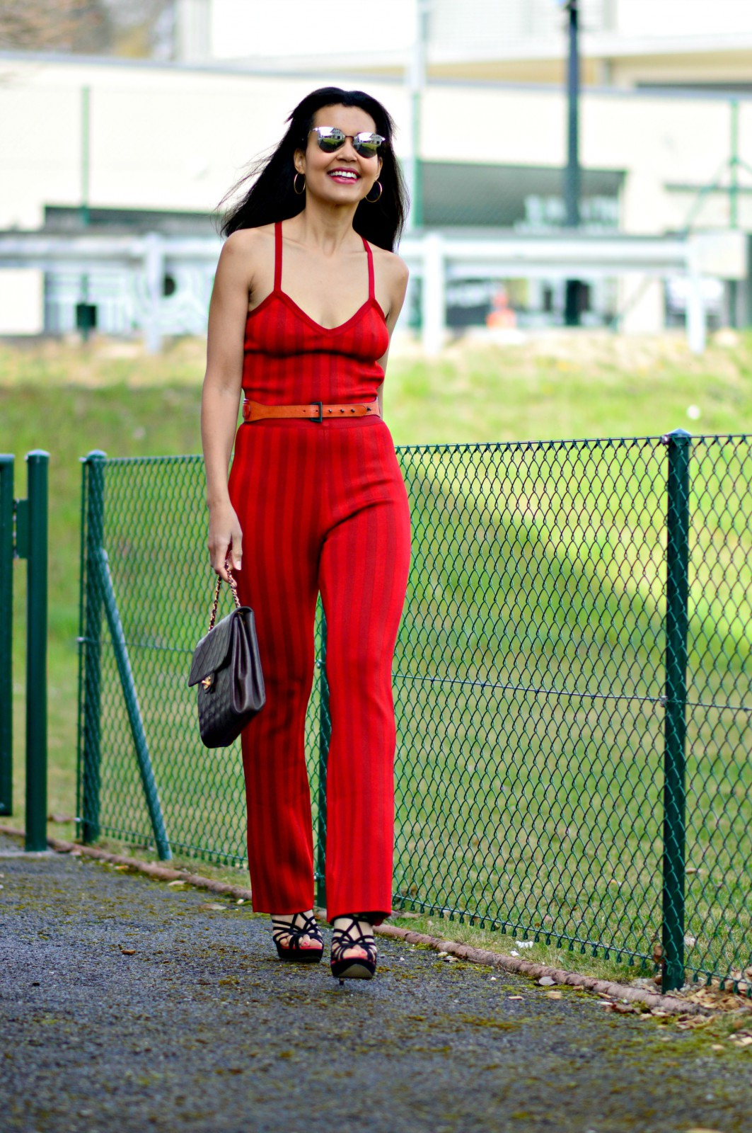 Red Bandage Jumpsuit/ currently wearing