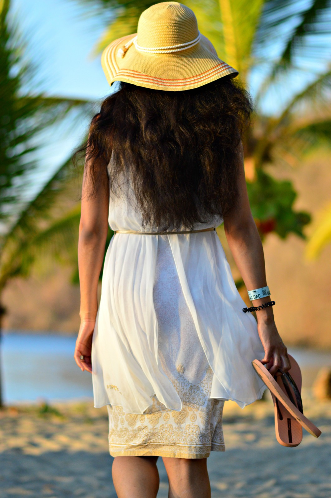 white summer dress/currently wearing/Ipanema flip flops