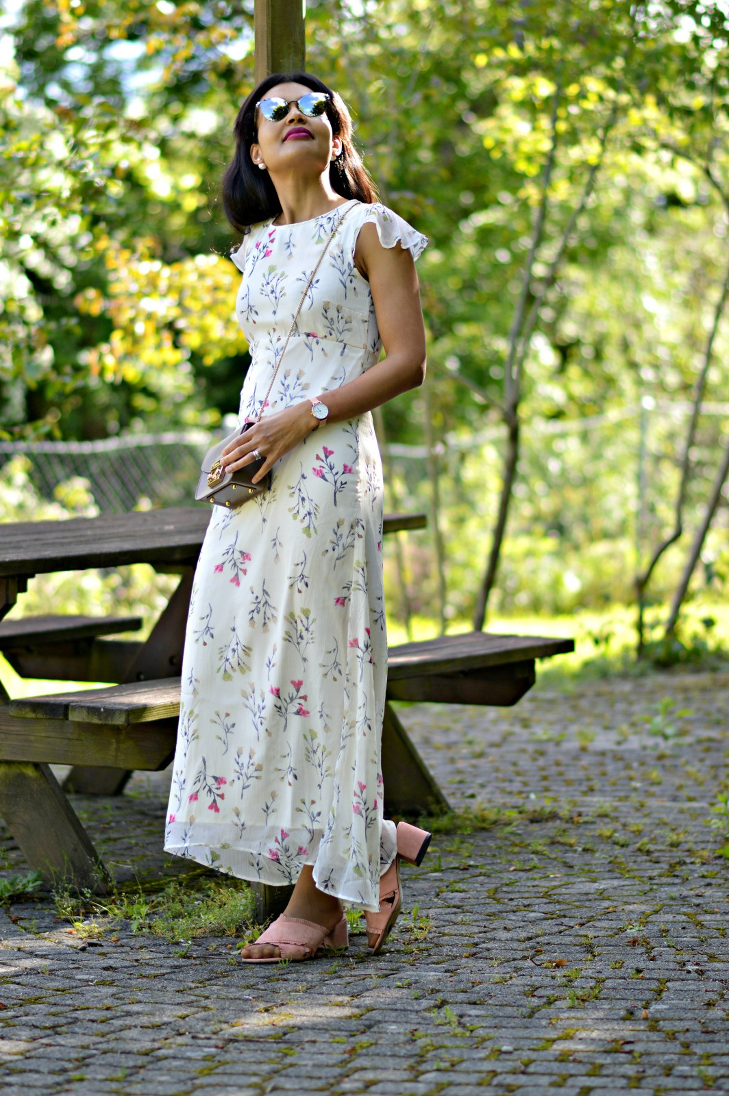 floral maxi dress/currently wearing