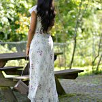 Floral Maxi Dress & Pink Mules
