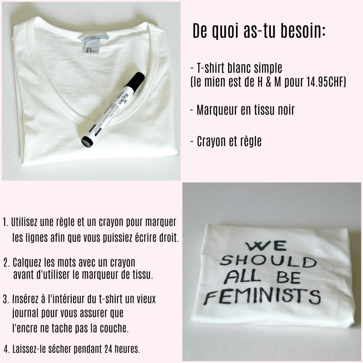Slogan t-shirt DIY