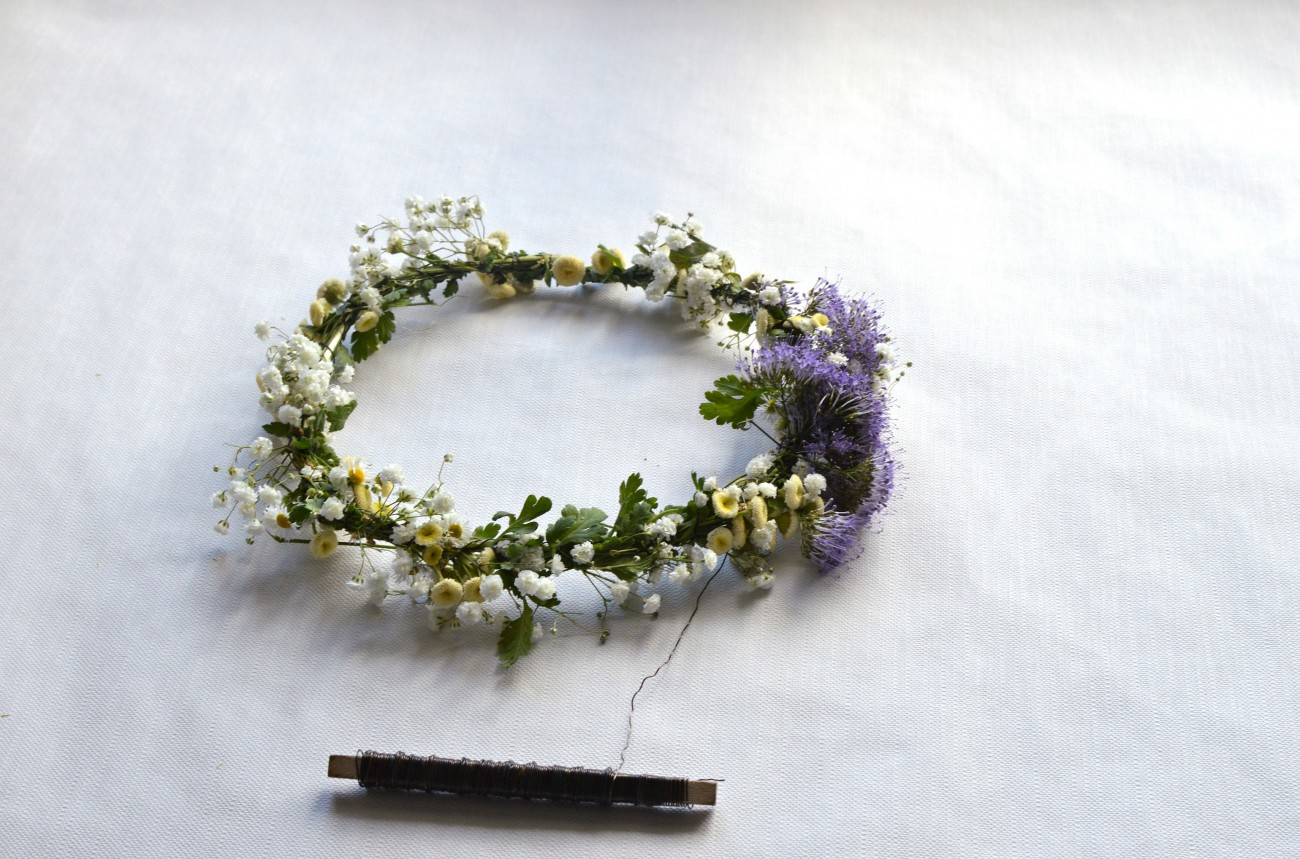 DIY flower crown tutorial_currently wearing