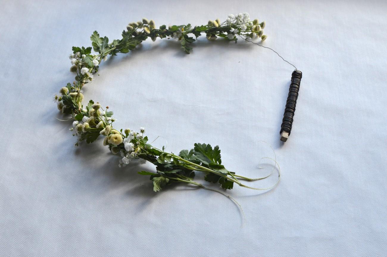 DIY flower crown tutorial_currently wearing