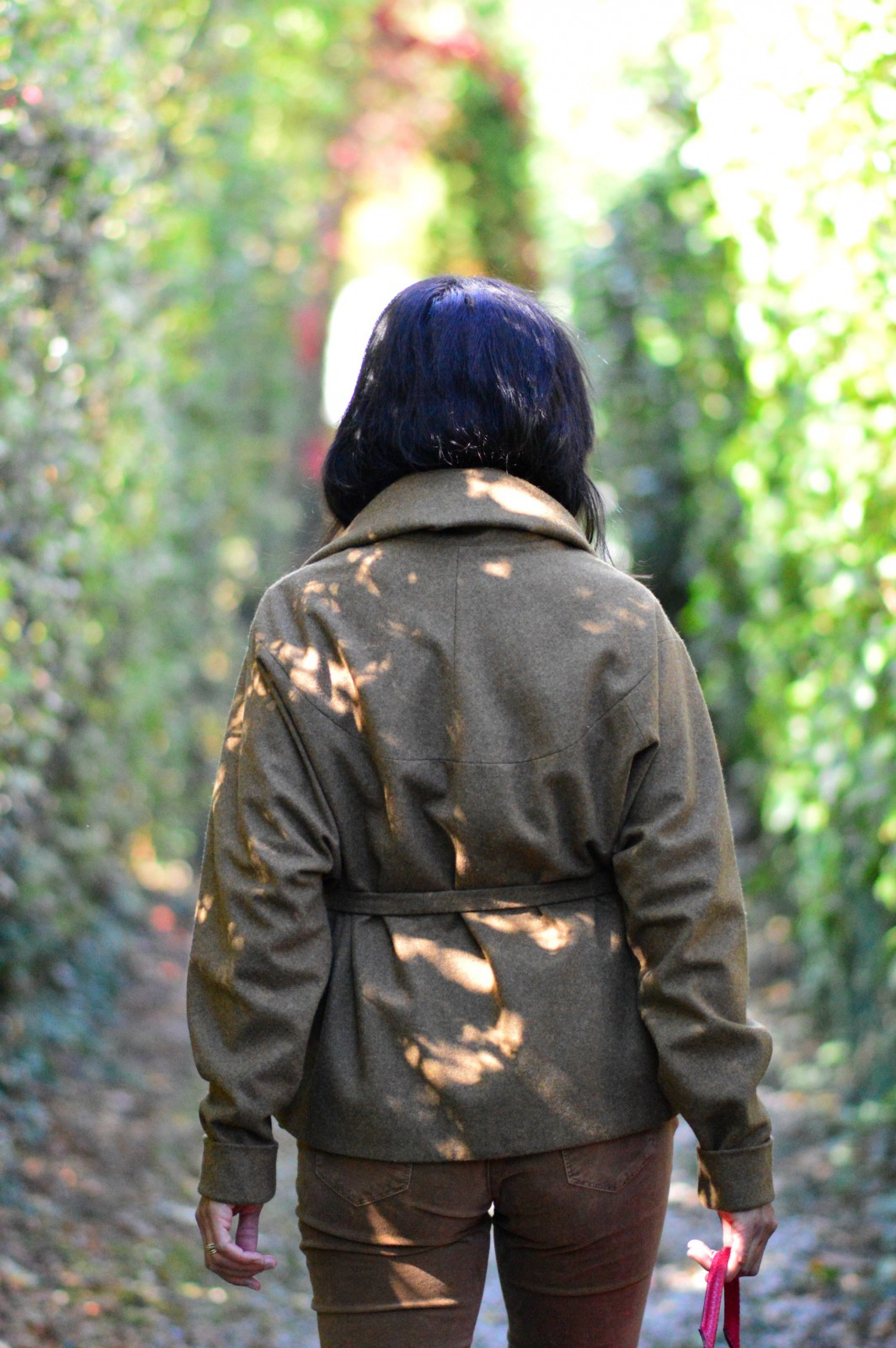 brown jacket/currently wearing