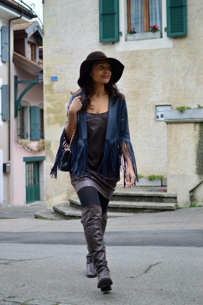 currently wearing_international womens day_fringe leather jacket