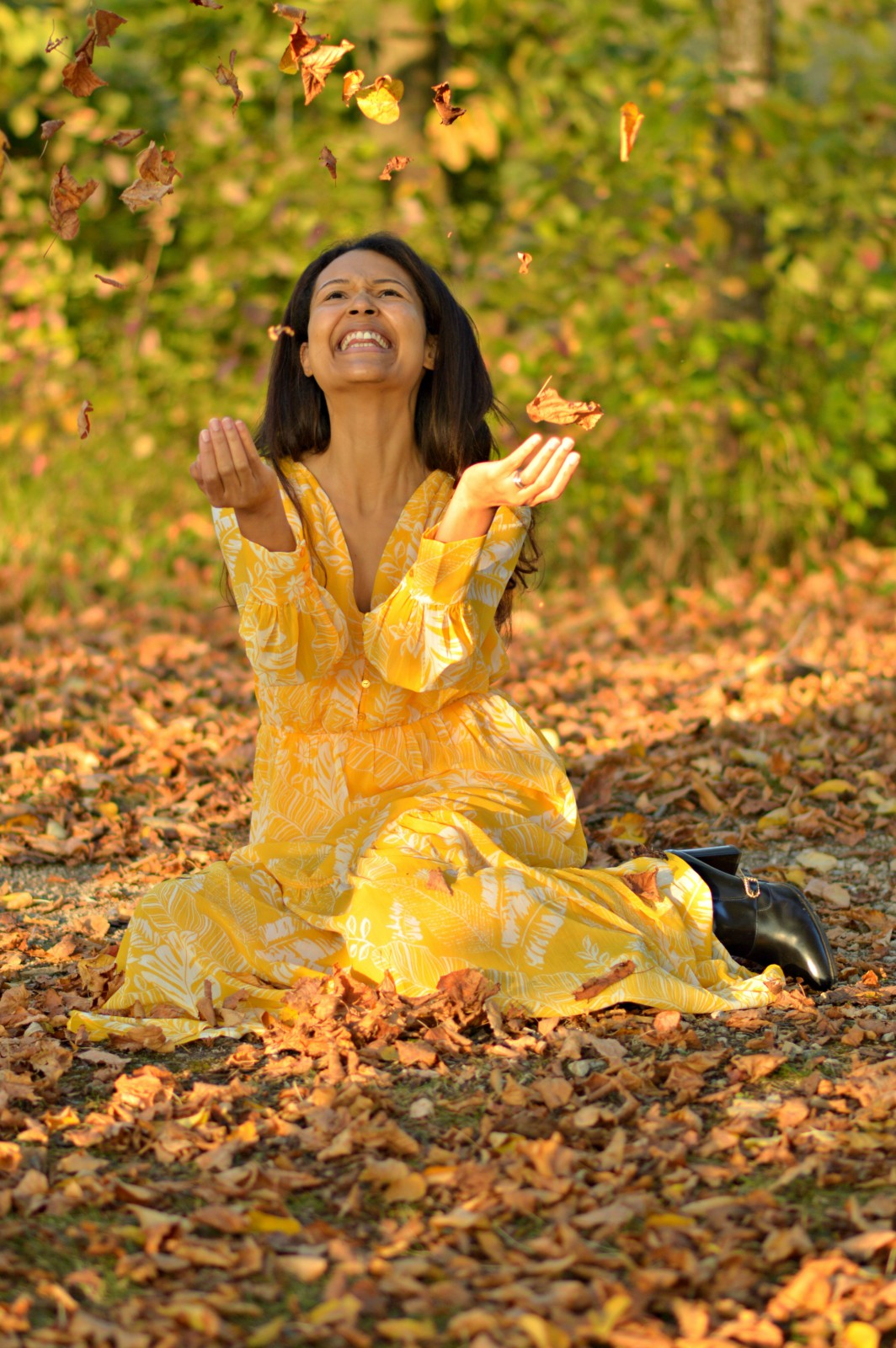 bright yellow dress/ fall fashion/ fall style/ currently wearing/swiss blog