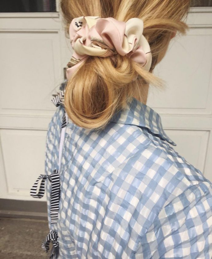 Comfort Objects/Hermes scrunchie/currently wearing