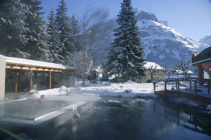 Hotel Belvedere Grindelwald/currently wearing swiss blog/ hotel outside spa