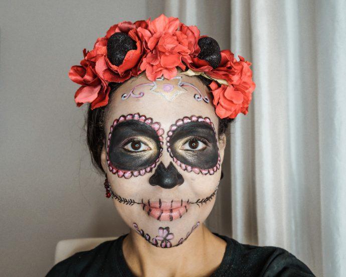 la calavera catrina_sugar skull makeup_dia de los muertos_swiss blog