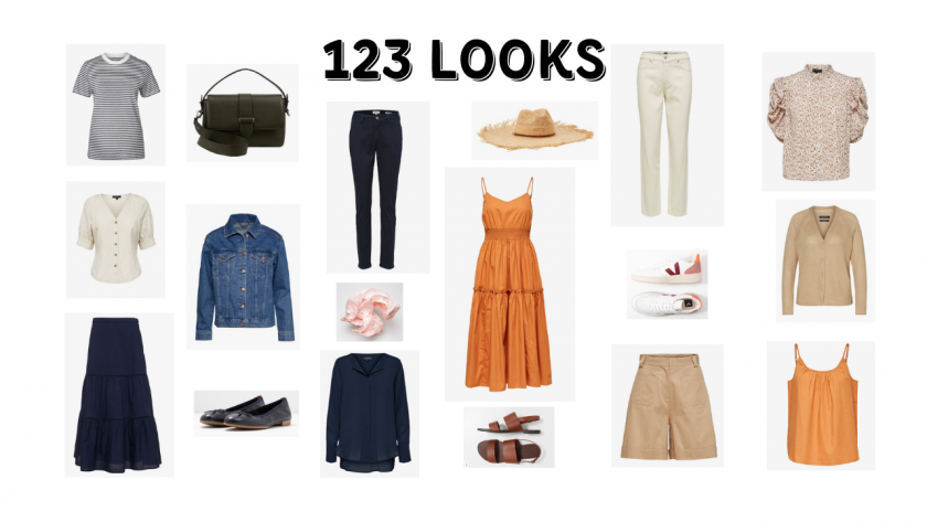 18 PIECES, OVER 123 OUTFITS : summer capsule wardrobe_currently wearing
